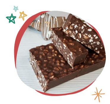Dulces de Navidad sin azúcar como el Suchard de chocolate casero sin azúcar