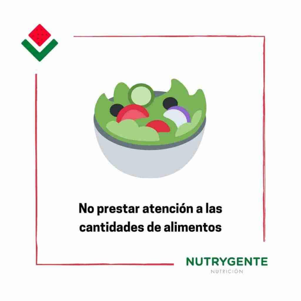 10. Fallos al hacer una dieta por no controlar las cantidades de los alimentos