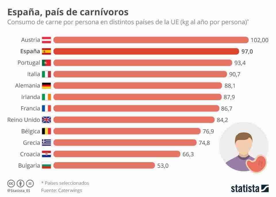 El consumo de carne en España es bueno o malo