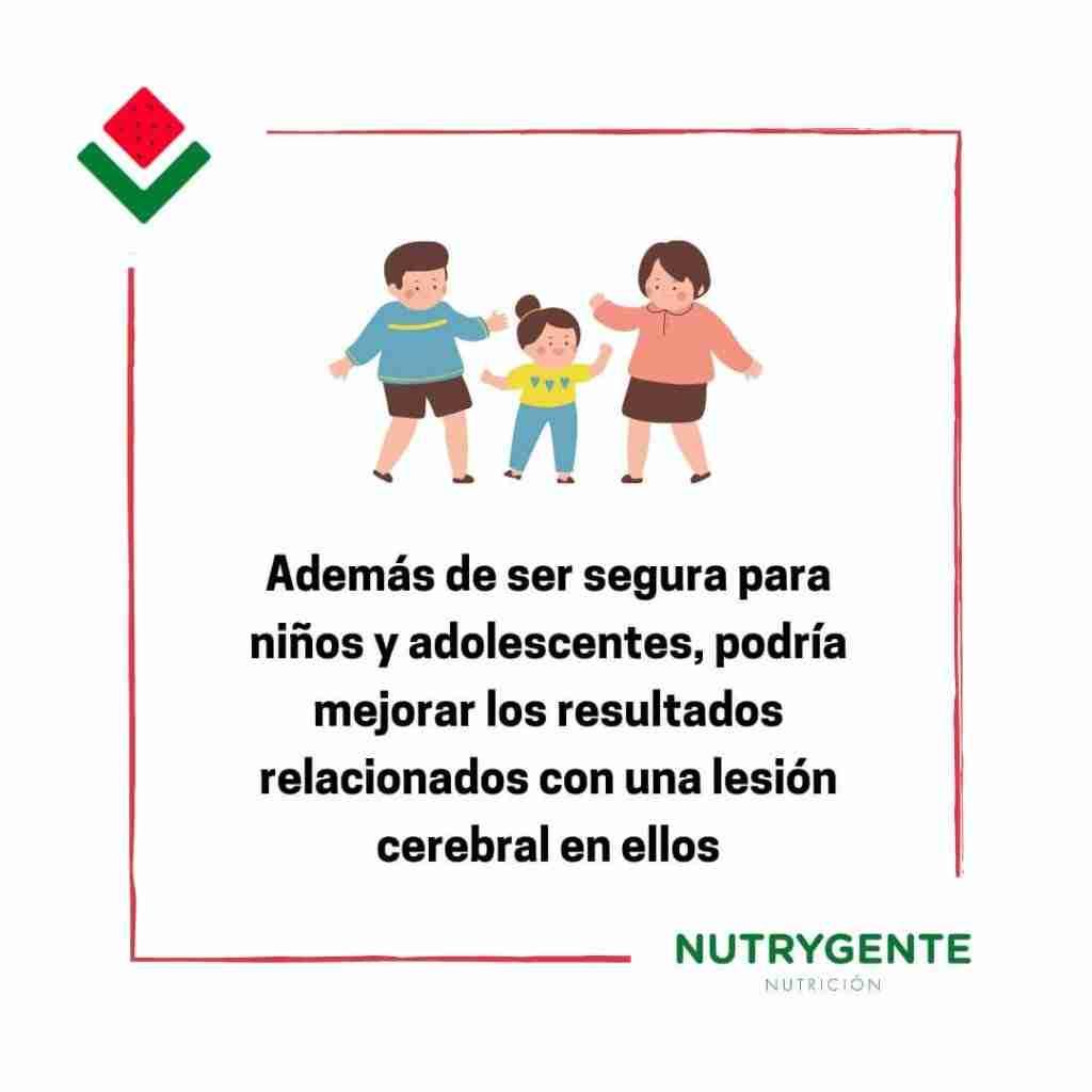 la suplementación de creatina es buena en la función neuronal de los niños