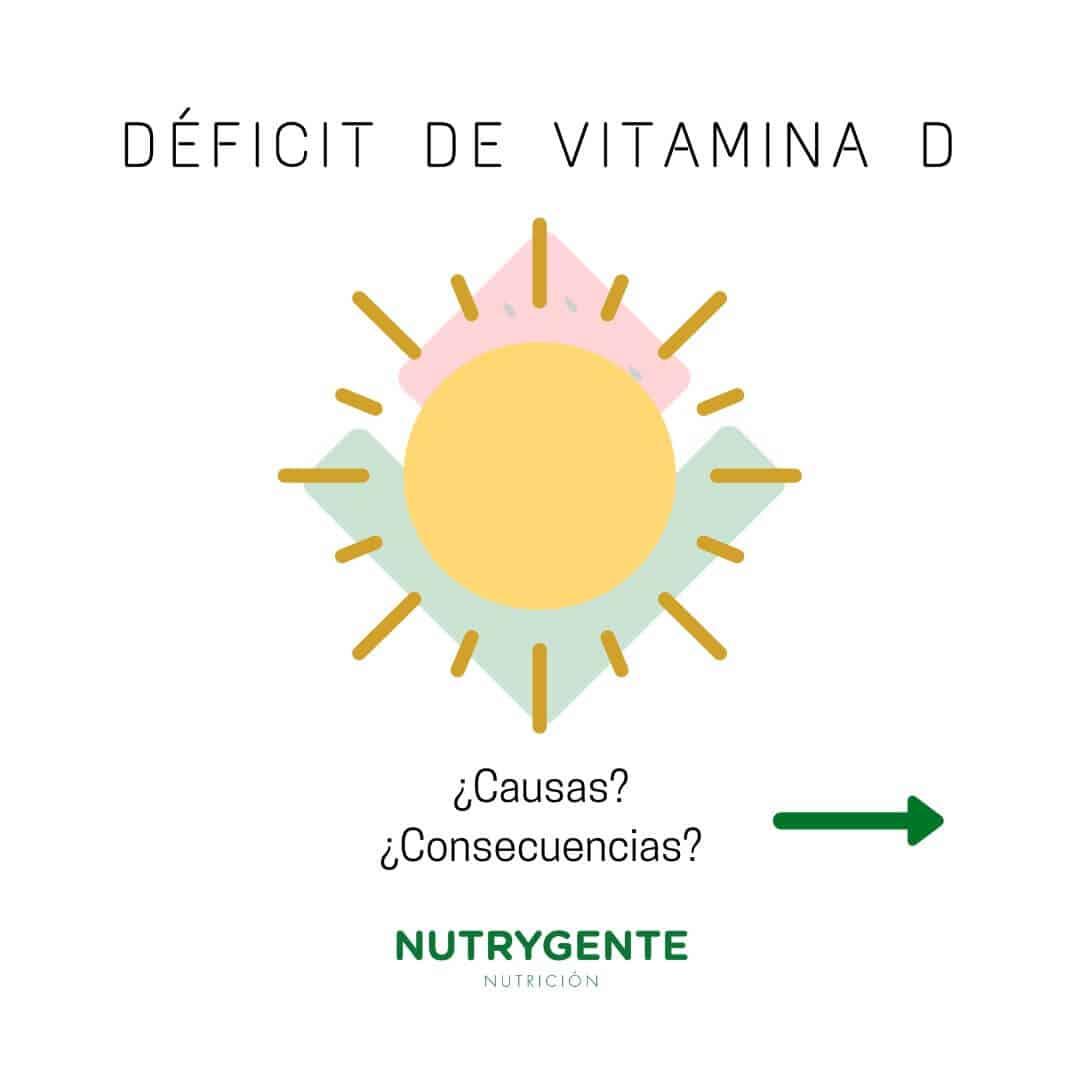 Causas y consecuencias del deficit de vitamina D en nutrición y dietética