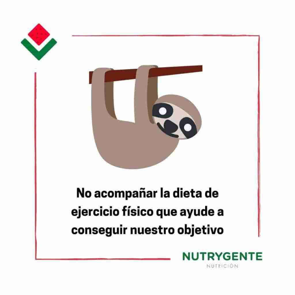 2. Fallos al hacer una dieta por olvidar hacer ejercicio físico