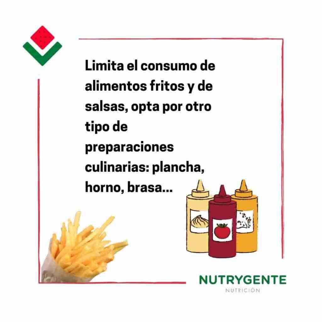 Debemos evitar los fritos fuera de casa para no engordar