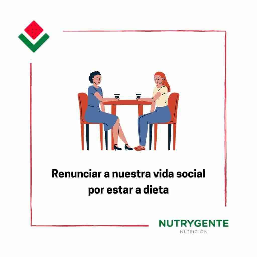 8. Fallos al hacer una dieta por renunciar a la vida social